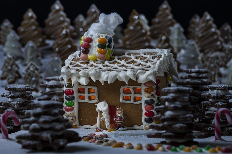 Ginger Bread House and Biscuits