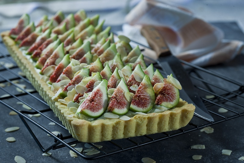 Honey And Mascarpone Tart With Fresh Figs